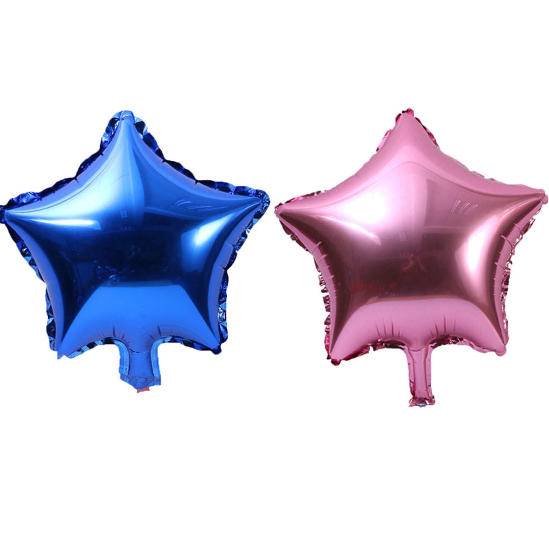 10個入り 10インチ 5点星 アルミホイルバルーン ベビーシャワー 子供の誕生日パーティー 結婚式の装飾用品 風船 10inch 0   B07HY61BBW