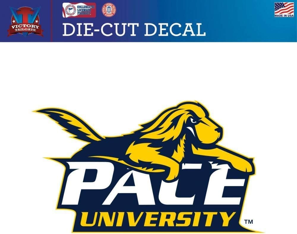 Victory Tailgate Pace University Setters Die-Cut Vinyl Decal