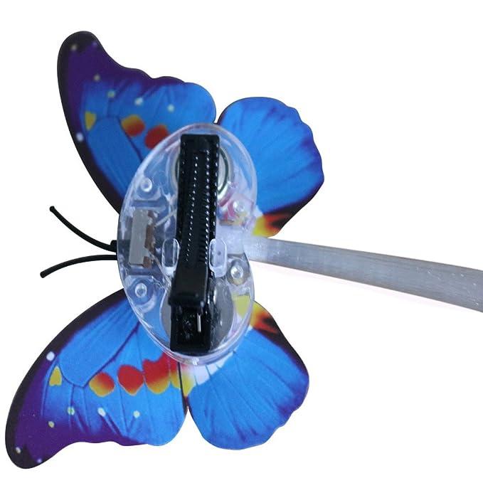 OHQ Juguete De Mariposa con Luz LED Pelucas Que Brillan ...