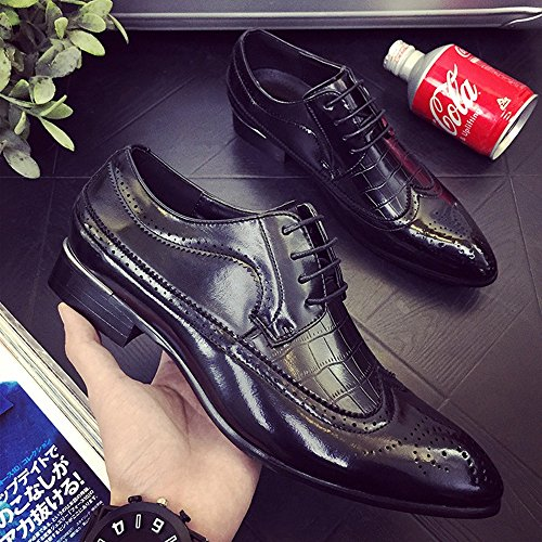 Wingtip Dimensione Sunny fodera 42 PU Lace uomo Blue Classiche all'abrasione Scarpe Hollow in traspirante Brogue da Fodere Splice Pelle Resistente Carving Color Nero EU amp;Baby Up BrAPxBqp