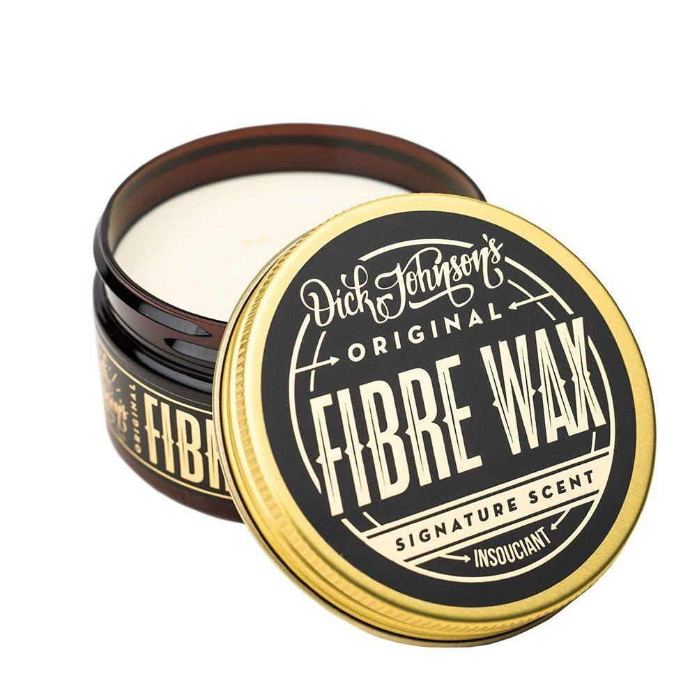 Label - Dick Johnson Fiber Wax-Strong Hold-Matte Finish 3oz