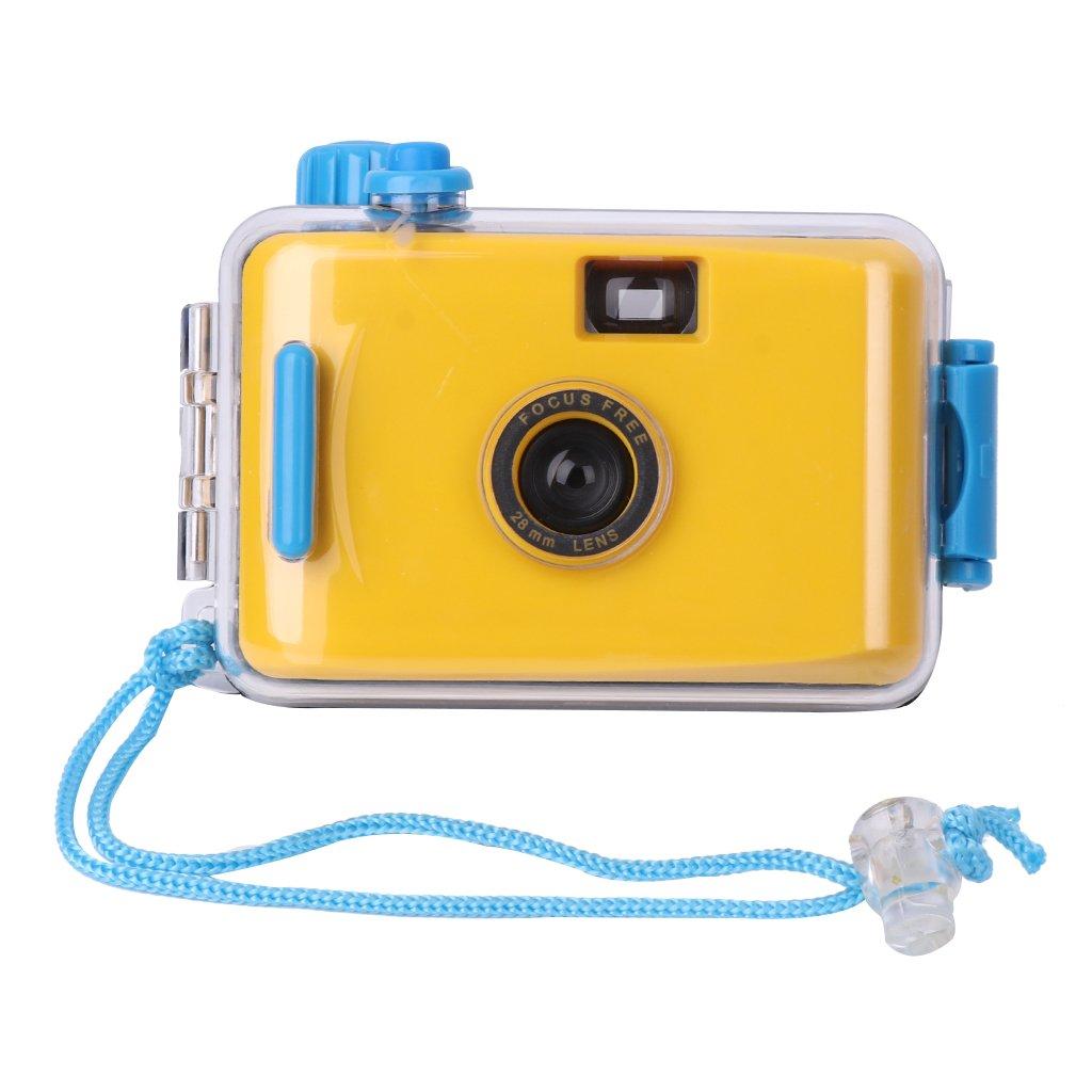 Shoresu 水中防水Lomoカメラミニキュート35mmフィルム ハウジングケース付き イエロー イエロー 8QQ100076-Y_TFE  イエロー B07GPCXRHV