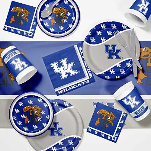 NCAA University of Kentucky Game Day Party Supplies Kit, Serves 8