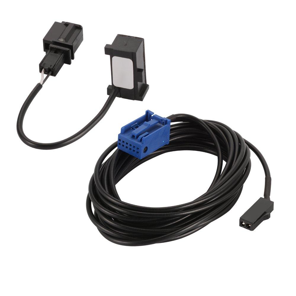 XCSOURCE Bluetooth Kit Microphone Harness MIC Câ ble Adaptateur Pour VW Peugeot 307 308 408 206 207 3008 Citroen C4 C3 C5 RD45 Voiture Auto AC876
