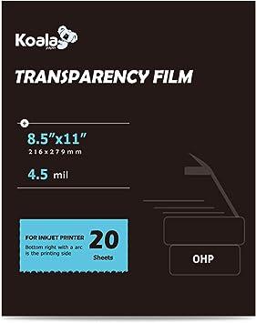 "8.5x11/"" for Inkjet Printer only Transparen... OHP Film Overhead Projector Film"