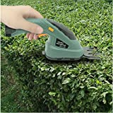 Grass Shear Hedge Trimmer Cordless 3.6V Lawn Mower Yard Garden Electric 2-In-1 (U.S. Stock)