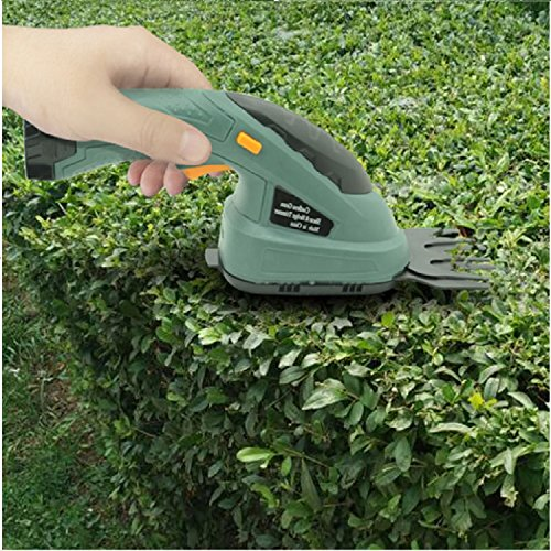 Grass Shear Hedge Trimmer Cordless 3.6V Lawn Mower Yard Garden Electric 2-In-1 (U.S. Stock) by Heize Garden