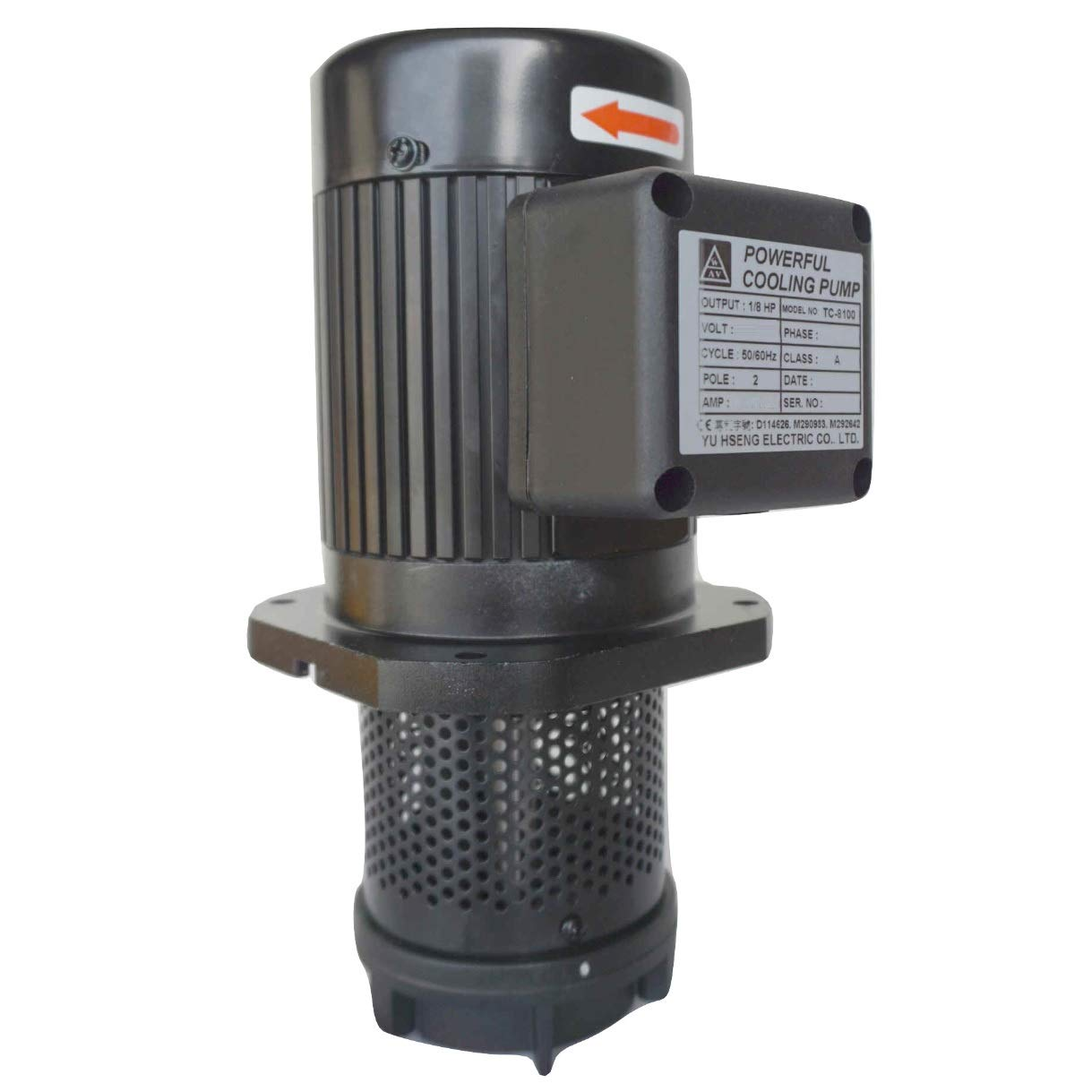 4 Immersion Length 100mm Three 3 Phase 208//415V 1//8 HP Lathe BandSaw Machine Tool Circulation Coolant Pump NPT 1//2 Thread