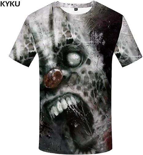 KYKU Payaso Camiseta Hombre Monstruo Camiseta 3D Impreso Camiseta Punk Camisetas Hip Hop Camisetas Calle Ropa para Hombre Camisa de Hipster Casual: Amazon.es: Deportes y aire libre