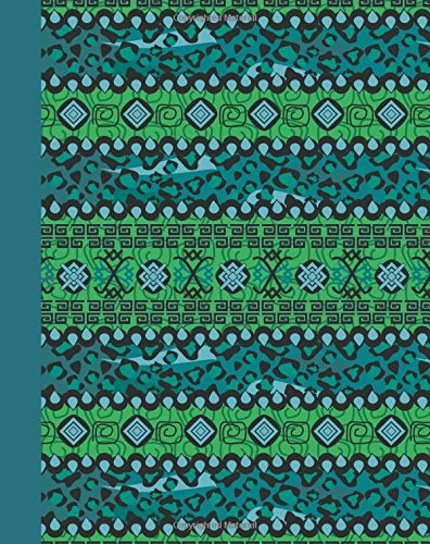 Journal: Tribal Pattern (Blue) 8x10 - GRAPH JOURNAL - Journal with graph paper pages, square grid pattern (8x10 Patterns and Designs Graph Journal Series)