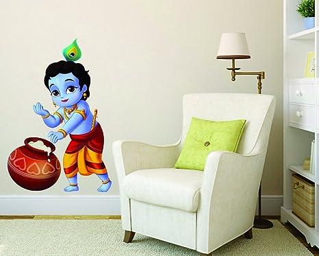 Buy Decor Kafe Bal Krishna Wall Sticker Pvc Vinyl Film 29 Cm X