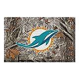 Fanmats 18969 Team Color 19'' x 30'' Miami Dolphins Scraper Mat (NFL Camo)