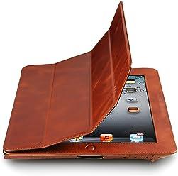 Custodia Couverture in vera pelle per Apple iPad (3a e 4a generazione) - funzione Smart Cover -Versione V2