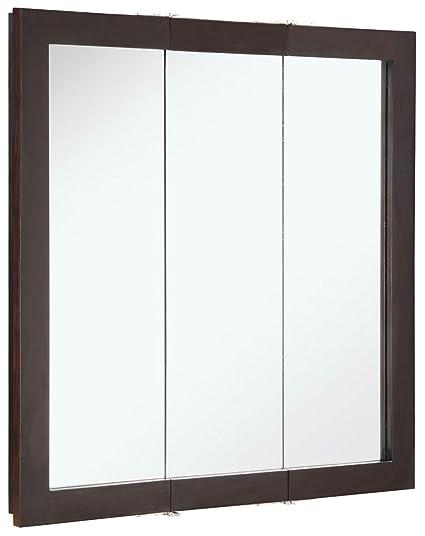 Delicieux Design House 541342 Ventura Tri View Medicine Cabinet, Espresso, 30 Inch By