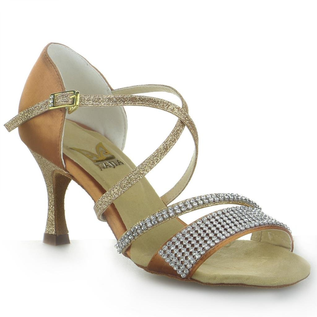 Jia 19971 Jia 20516 Chaussures de danse Marron latine satin Jia Marron cedecc4 - conorscully.space