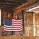 Generic American Flag Backdrop for Photo Studio Wood Wall and Floor Photography Backgrounds Booth Printed Picture Props