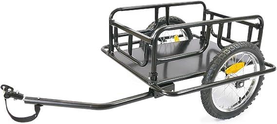 Remolque de bicicleta para carga de 60 Kg plegable para transporte ...