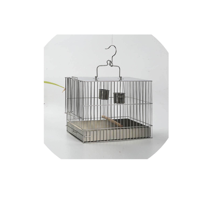 mebake bird house ZP7011150 - Jaula Cuadrada para pájaros (Acero ...
