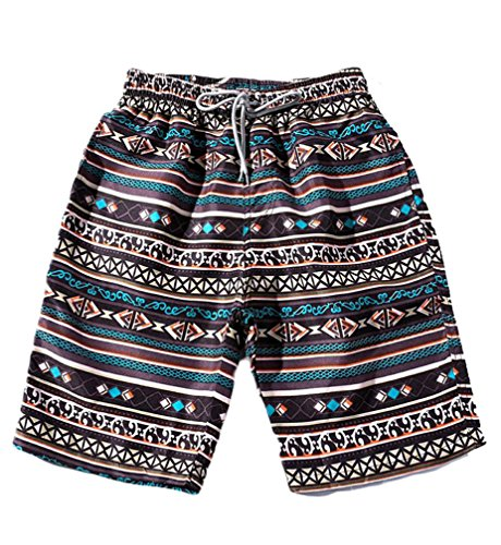 Gnao Matching Couples Drawstring Printing Surfing Trunks Beach Board Shorts Men US M by Gnao
