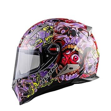 JINWEI Motocicleta Racing Casco De La Personalidad Hombres Y Mujeres Four Seasons Moto Anti-Niebla