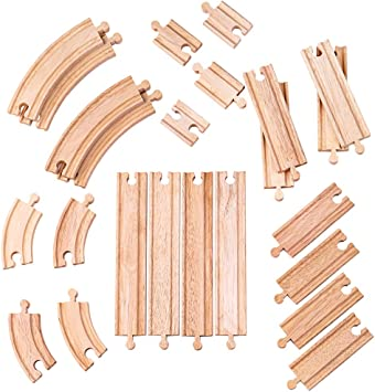 Bigjigs Double Curved Turnout New Wooden Train Track Points Thomas Brio ELC IKEA