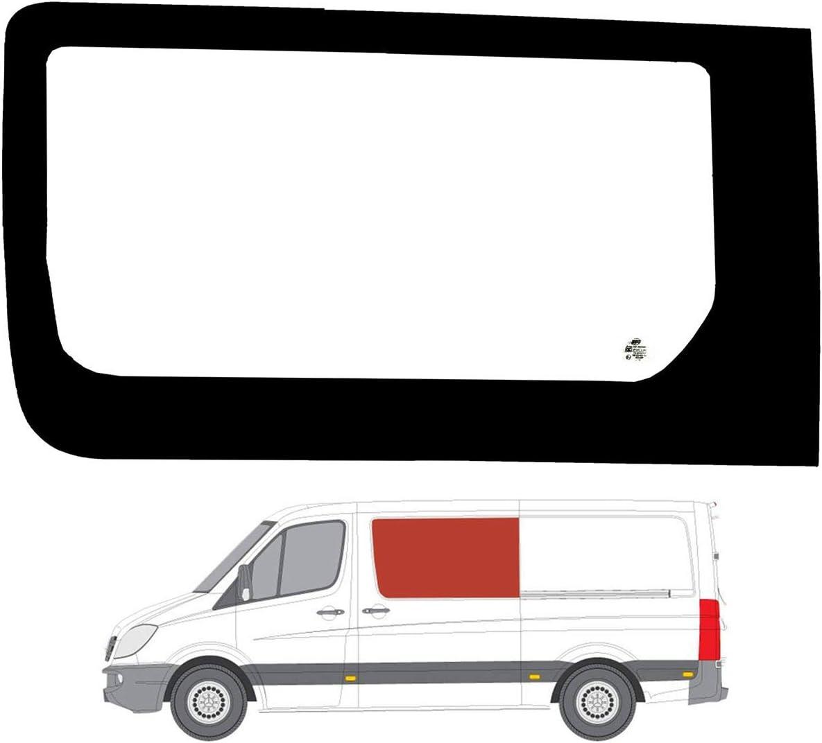 Mano izquierda lado claro fija puerta de cristal de ventana deslizante para VW Crafter (06 – 17): Amazon.es: Coche y moto