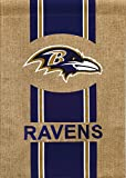 "Team Sports America NFL Baltimore Ravens Burlap Garden Flag, 12.5"" x 18""/Medium, Multicolored"