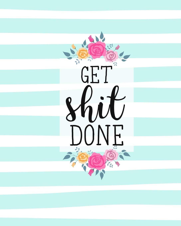 Amazon.com: Get Shit Done: Diario Agenda Settimanale Datato ...