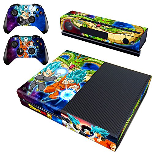 Vanknight Xbox One Vinyl Decal Skin Stickers Cover for Console Kinect Controllers (Goku Vinyl Sticker)