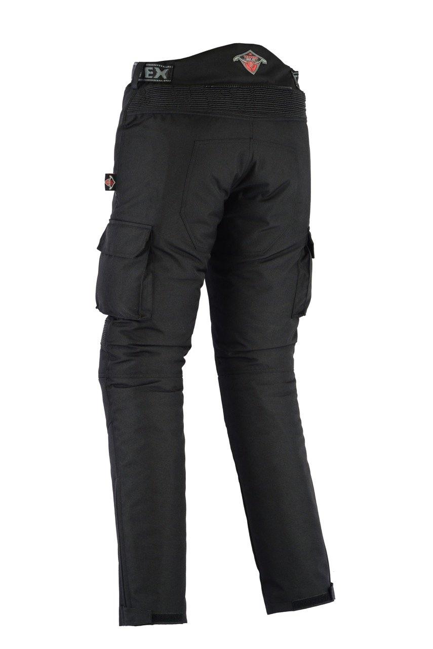 Huge Size Range Texpeed All Black Waterproof Armoured Motorcycle//Motorbike Trousers W50 L34