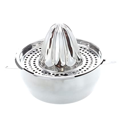 SODIAL(R) Escariador de acero inoxidable Exprimidor manual de vidrio Estrujador de citron lima
