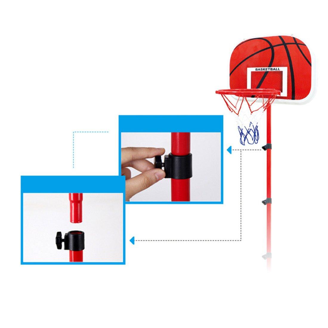 LDB SHOP Panier de Basket Enfant Hauteur R/églable Portable pour Enfants 63-150 Cm 2-5 Ans