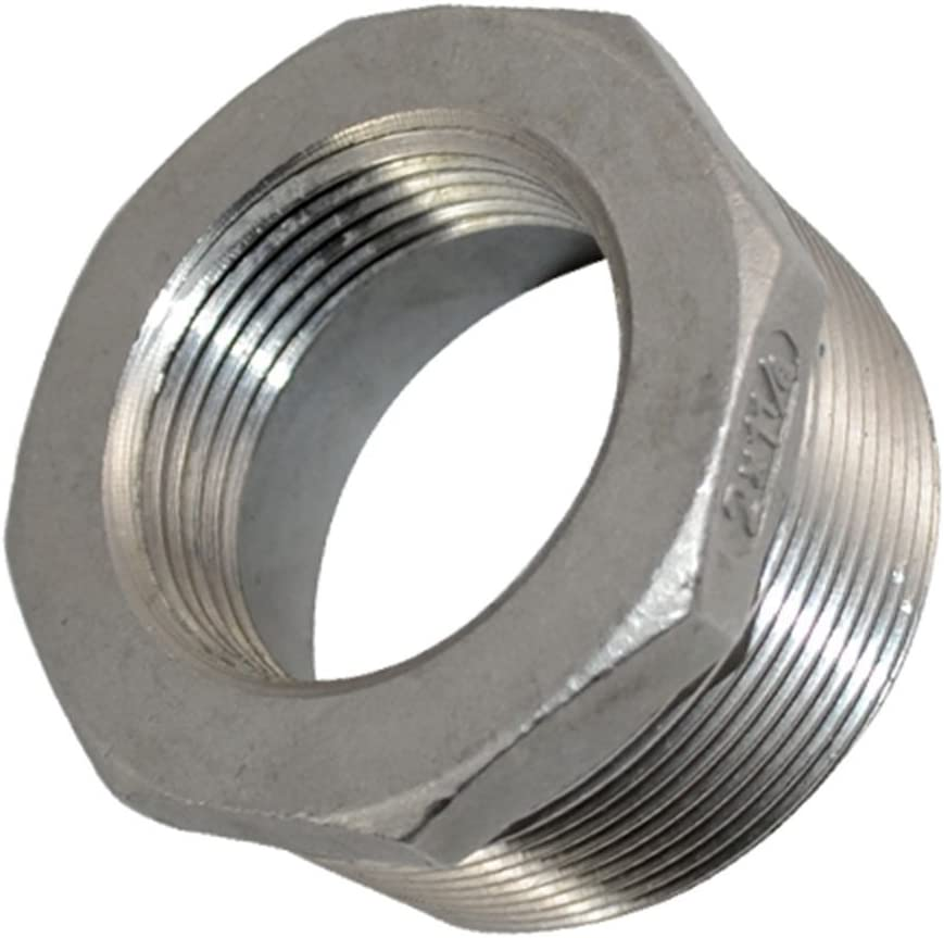 2 Male x 1 Female Thread Reducer Bushing Pipe Fitting Stainless steel SS 304 NPT Adapter