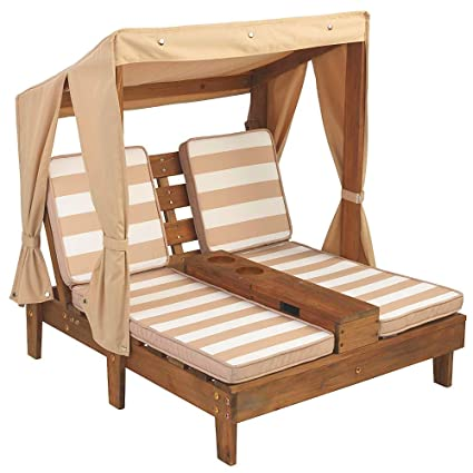 Super Amazon Com Efd Double Chaise Lounge Chairs For Kids 2 Patio Bralicious Painted Fabric Chair Ideas Braliciousco