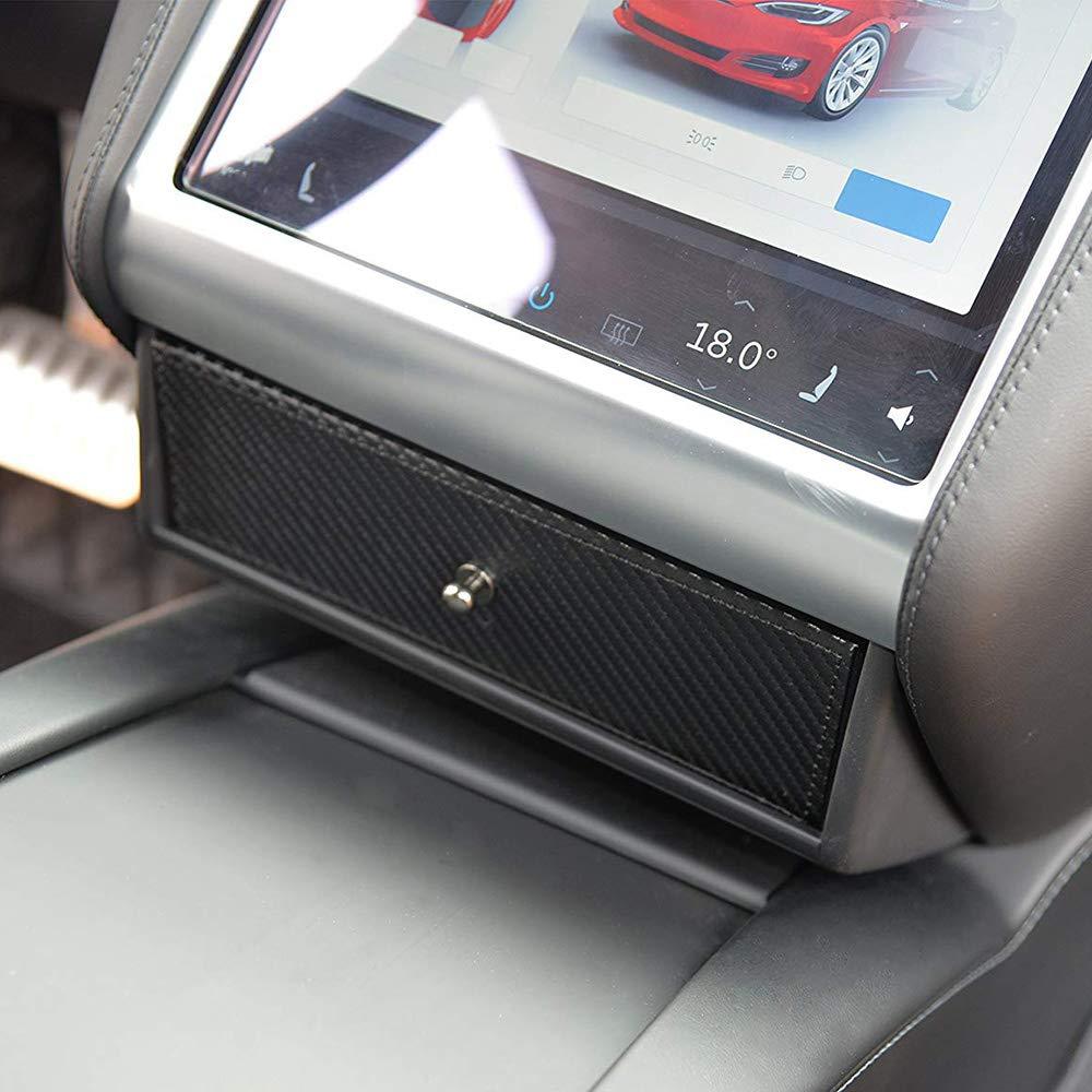 Goolsky Consola Central del Coche Caja de Almacenamiento Organizador Bandeja para Tesla Modelo XS