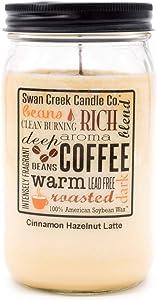 Swan Creek 100% American Soybean 24 Oz. Jar Candle - Cinnamon Hazelnut Latte