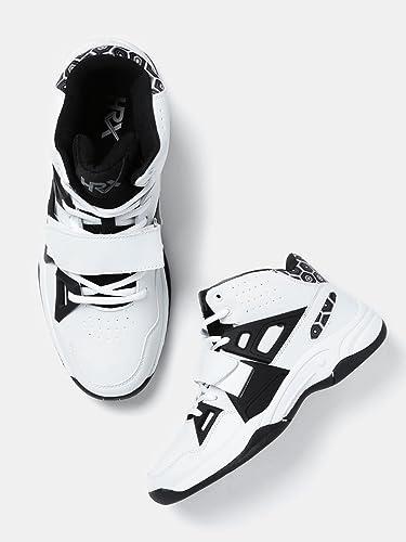 b5f9e591c HRX by Hrithik Roshan Men White   Black Sneakers (7)  Buy Online at ...