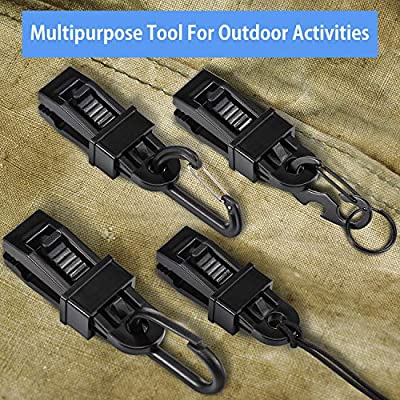 Tarp Clips Multipurpose Secures Clamp with Strong Lock Grip, Clamp Trap Clip Camping Clamp Clip Tighten Lock Grip Tent Snap for Outdoor Camping,Tent, Awning, Banner(12 Pieces, Crocodile Mouth): Sports & Outdoors