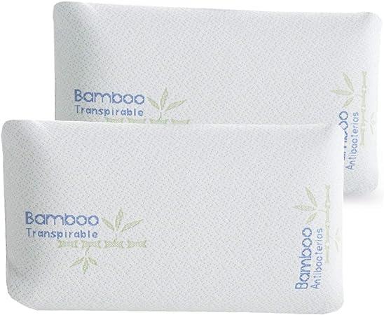 Innovaciones Roser Pack 2 Almohadas Mini Viaje Modelo Viscoelásticas, Color Blanco, Medida 43cm: Amazon.es: Hogar
