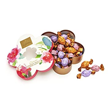Godiva Chocolatier Flower Gift Box Filled With Individually Wrapped Chocolate Truffles 32 Pc Great