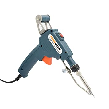 Jasnyfall Pistola de soldadura de calor interno Herramienta de descarga de lata semiautomática de soldadura de estaño manual azul oscuro: Amazon.es: ...