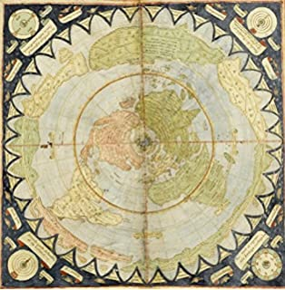 Amazon diagram of the principal high buildings of the old world flat earth map monte urbano circa 1589 map gumiabroncs Choice Image