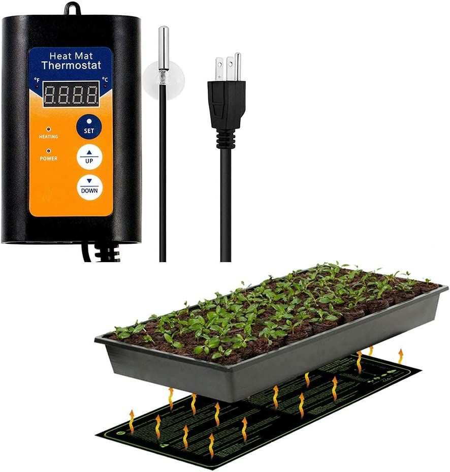 MET Certified Seedling Heat Mat, with 42 108 Digital Thermostat Controller for Seed Germination 10 x 20