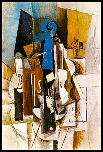 Violin 1913 by Pablo Picasso Framed Oil Paintings Reproduction Canvas Prints Artwork Wall Art for Home and office Decorations(24