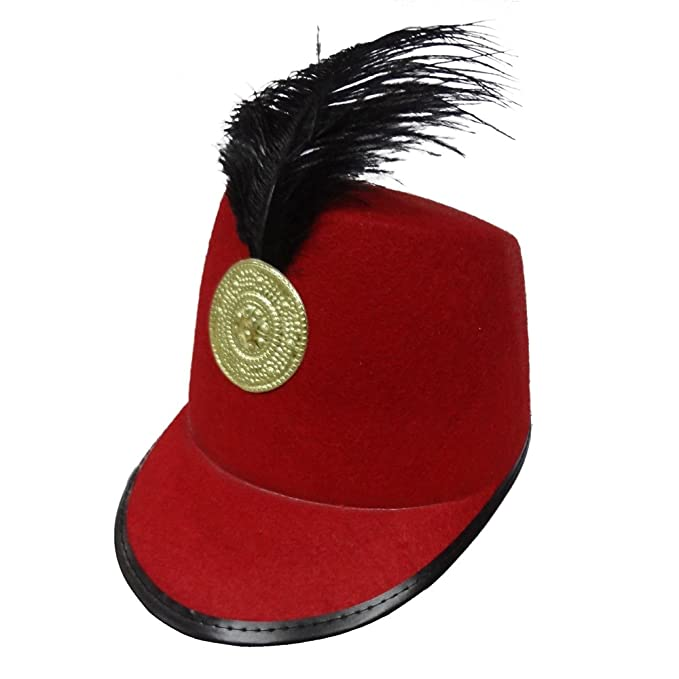 Image Unavailable. Image not available for. Color  Dress Up America Kids  Big  Red Marching Band Hat ... 2c158352c5f2