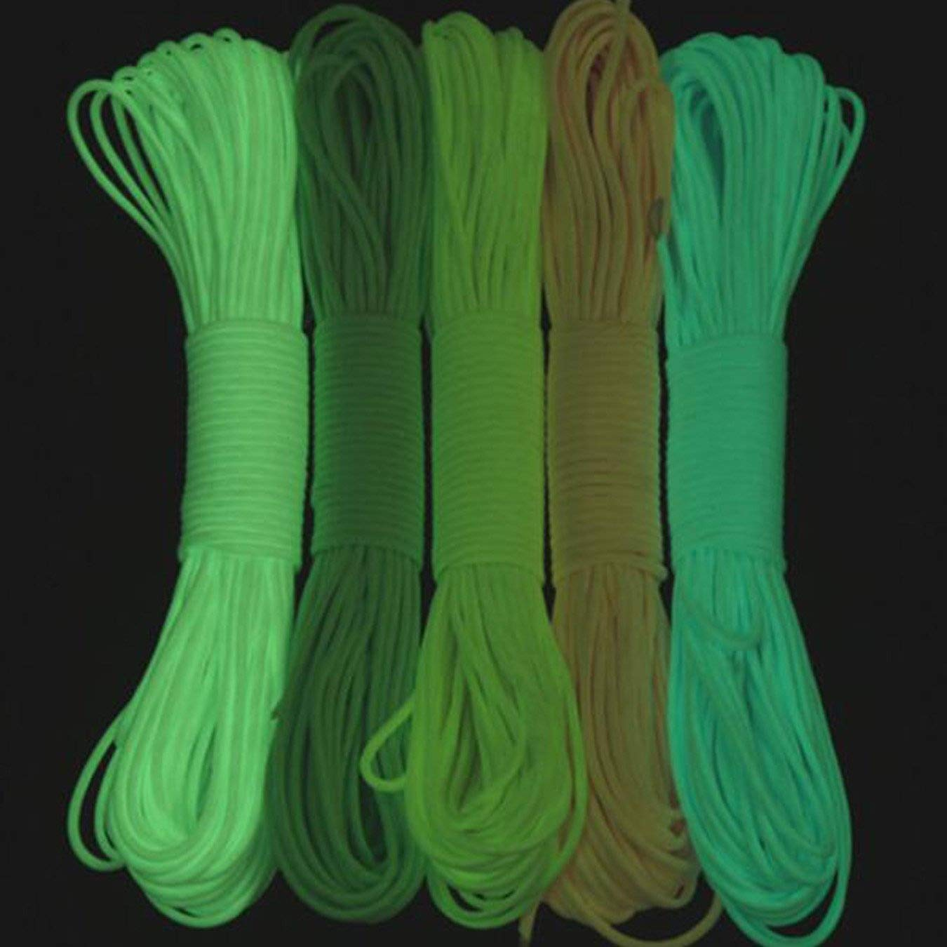 Perfect for DIY Bracelet Craft County Glow in The Dark Zesty 21 Strand Luminous 550 Paracord Variety of Vibrant Colors Available 25ft Lanyard 50ft 100ft DIY Crafts Choose from 10ft