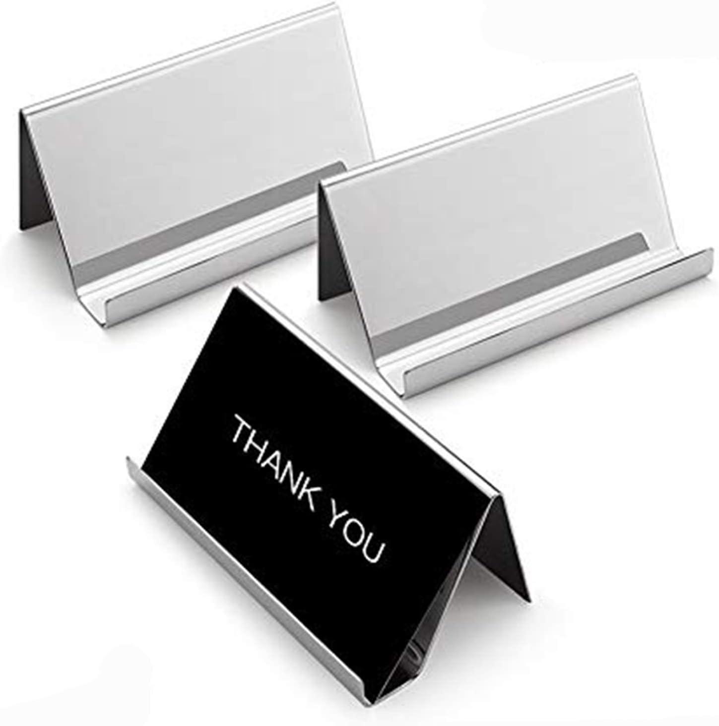 Computer Desk Plastic Card holder Business Card at Job Office Desk Top Card Business Card Stand Acrylic Desk Business Card Holder