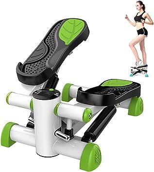 LANGYINH Escalera Fitness Stepper de Ejercicio,Mini Stepper Fitness Machine con Monitor LCD para Gimnasio en casa,Green: Amazon.es: Deportes y aire libre