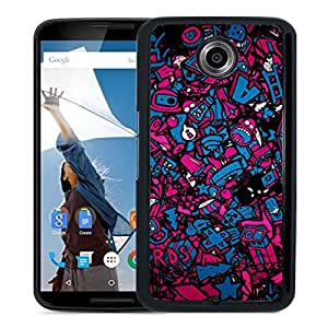 New Beautiful Custom Designed Cover Case For Google Nexus 6 With Valentines Day Love Nerds Phone Case