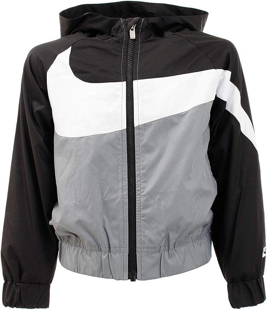 Pobreza extrema Europa directorio  Amazon.com: Nike Sportswear Windrunner Toddler Swoosh Ripstop Jacket -  Black White Grey - 2T: Clothing